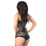 Lavish Tan Lace Overlay Overbust Corset at Corsets Plus, Corsets - Steel Boned Corsets, Waist Training, Body Shapers