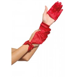 Satin Cut Out Gloves Corsets Plus Corsets - Steel Boned Corsets, Waist Training, Body Shapers
