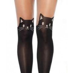 Adorable Black Kitty Cat Pantyhose 3 Pack Corsets Plus Corsets - Steel Boned Corsets, Waist Training, Body Shapers