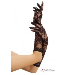 Black Elbow Length Lace Gloves Corsets Plus Corsets - Steel Boned Corsets, Waist Training, Body Shapers