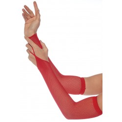 Red Fishnet Arm Warmers Corsets Plus Corsets - Steel Boned Corsets, Waist Training, Body Shapers