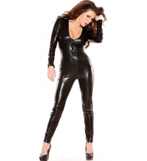 Kitten Wet Look Lycra Catsuit at Corsets Plus, Corsets - Steel Boned Corsets, Waist Training, Body Shapers