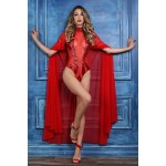Coco Red Sheer Cape at Corsets Plus, Corsets - Steel Boned Corsets, Waist Training, Body Shapers