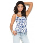 Floral Print Bustier Top at Corsets Plus, Corsets - Steel Boned Corsets, Waist Training, Body Shapers
