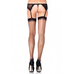 Black Spandex Backseam Garter Stockings - Pack of 3 Corsets Plus Corsets - Steel Boned Corsets, Waist Training, Body Shapers
