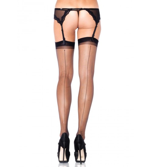 Black Spandex Backseam Garter Stockings - Pack of 3 at Corsets Plus, Corsets - Steel Boned Corsets, Waist Training, Body Shapers