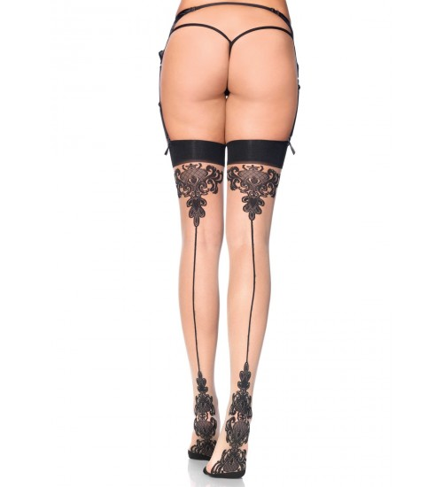 Baroque Cuban Heel Nude Thigh High Stockings  - Pack of 3 at Corsets Plus, Corsets - Steel Boned Corsets, Waist Training, Body Shapers