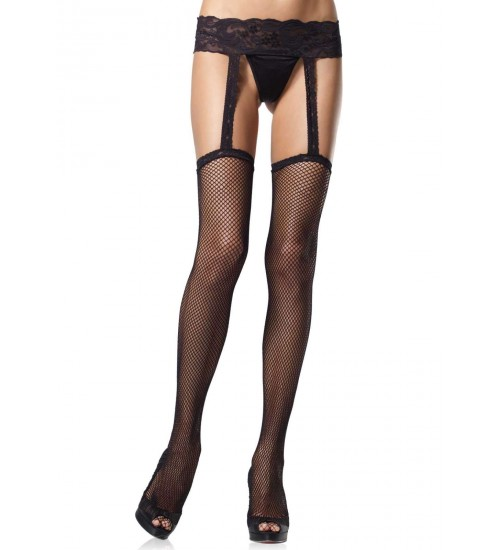Black Fishnet Suspender Stockings  - Pack of 3 at Corsets Plus, Corsets - Steel Boned Corsets, Waist Training, Body Shapers