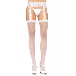 Lace Garter Belt Suspender Sheer Stockings  - Pack of 3