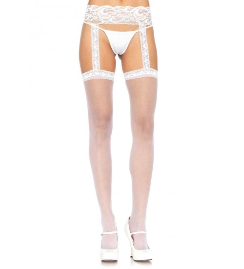 Lace Garter Belt Suspender Sheer Stockings  - Pack of 3 at Corsets Plus, Corsets - Steel Boned Corsets, Waist Training, Body Shapers