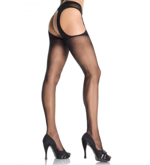 Sheer Suspender Pantyhose - Pack of 3