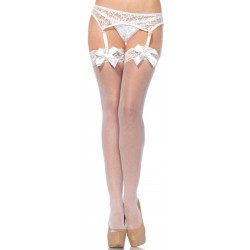 Satin Bow Lace Top Thigh High Garter Stockings Corsets Plus Corsets - Steel Boned Corsets, Waist Training, Body Shapers