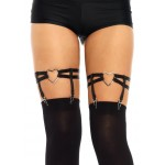 Black Heart Leg Garters at Corsets Plus, Corsets - Steel Boned Corsets, Waist Training, Body Shapers