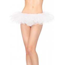Tulle Swirl Edge White Tutu Petticoat Skirt Corsets Plus Corsets - Steel Boned Corsets, Waist Training, Body Shapers