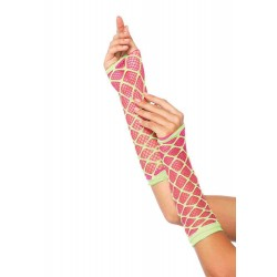 Duel Net Neon Arm Warmers Corsets Plus Corsets - Steel Boned Corsets, Waist Training, Body Shapers
