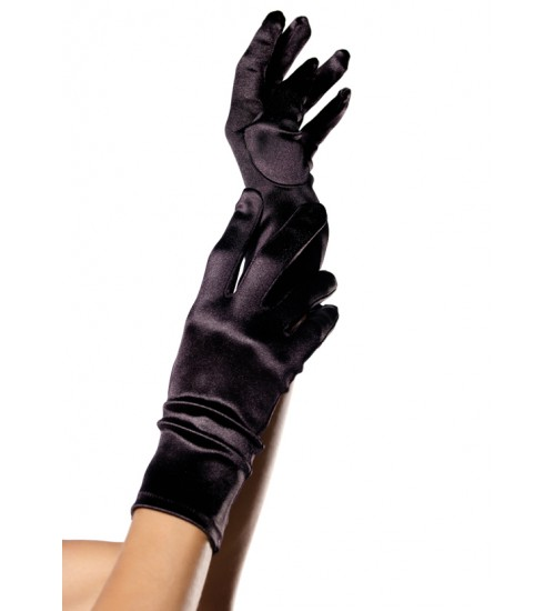 Black Wrist Length Satin Gloves at Corsets Plus, Corsets - Steel Boned Corsets, Waist Training, Body Shapers