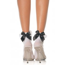 Bow and Lace Ruffle Trimmed Anklet Socks Corsets Plus Corsets - Steel Boned Corsets, Waist Training, Body Shapers