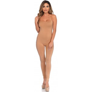 Basic Womens Unitard in Nude