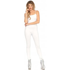 Basic Womens Unitard in White