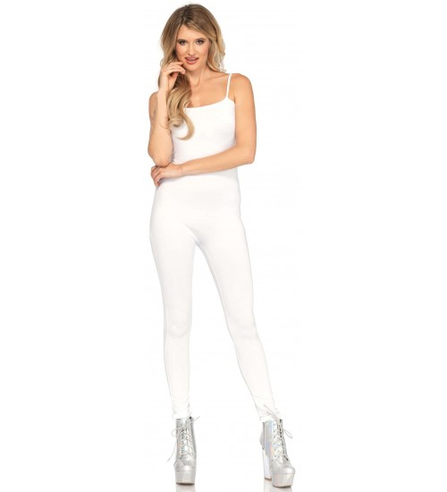 Basic Womens Unitard in White at Corsets Plus, Corsets - Steel Boned Corsets, Waist Training, Body Shapers