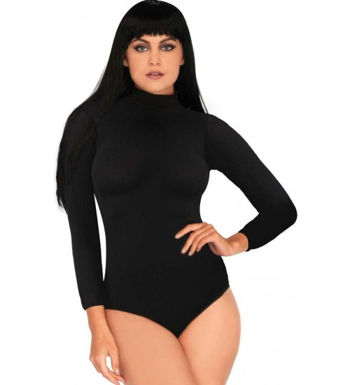 Black High Neck Long Sleeve Bodysuit at Corsets Plus, Corsets - Steel Boned Corsets, Waist Training, Body Shapers