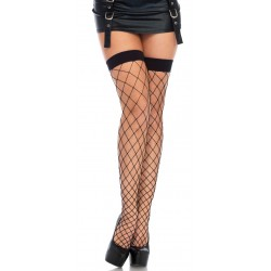 Fence Net Thigh High Stockings - Black Corsets Plus Corsets - Steel Boned Corsets, Waist Training, Body Shapers