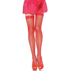 Fishnet Garter Stockings with Lace Top - Red Corsets Plus Corsets - Steel Boned Corsets, Waist Training, Body Shapers