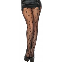 Celestial Net Black Tights