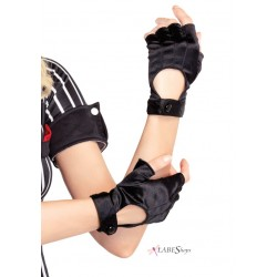Fingerless Black Motorcycle Gloves Corsets Plus Corsets - Steel Boned Corsets, Waist Training, Body Shapers