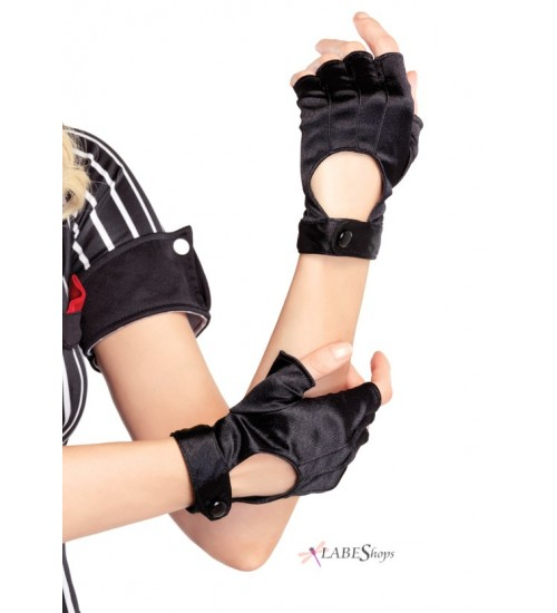 Fingerless Black Motorcycle Gloves at Corsets Plus, Corsets - Steel Boned Corsets, Waist Training, Body Shapers