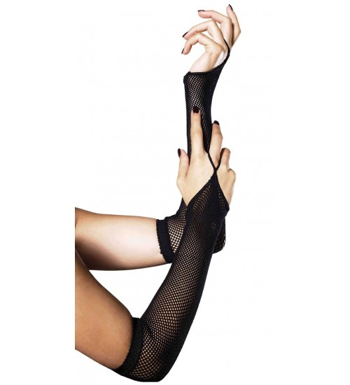 Black Fishnet Arm Warmers at Corsets Plus, Corsets - Steel Boned Corsets, Waist Training, Body Shapers