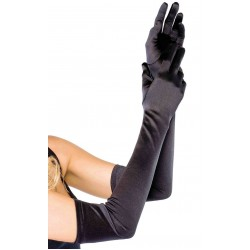 Satin Extra Long Black Opera Gloves Corsets Plus Corsets - Steel Boned Corsets, Waist Training, Body Shapers