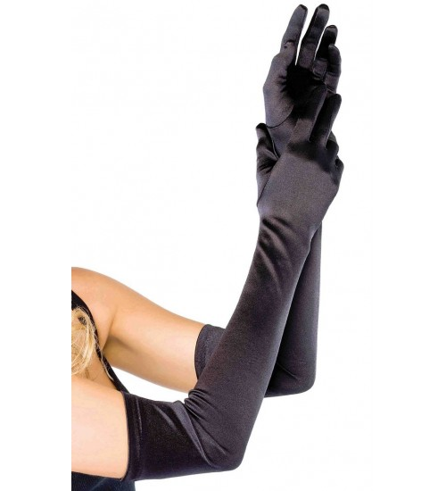 Satin Extra Long Black Opera Gloves at Corsets Plus, Corsets - Steel Boned Corsets, Waist Training, Body Shapers