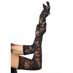 Elegant Black Lace Opera Gloves Corsets Plus Corsets - Steel Boned Corsets, Waist Training, Body Shapers