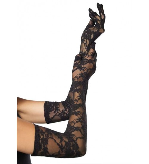 Elegant Black Lace Opera Gloves at Corsets Plus, Corsets - Steel Boned Corsets, Waist Training, Body Shapers