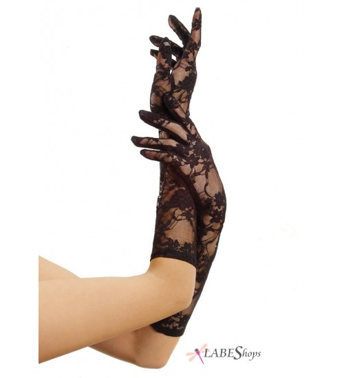 Black Elbow Length Lace Gloves at Corsets Plus, Corsets - Steel Boned Corsets, Waist Training, Body Shapers