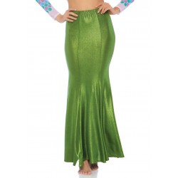Green Shimmer Spandex Mermaid Skirt Corsets Plus Corsets - Steel Boned Corsets, Waist Training, Body Shapers