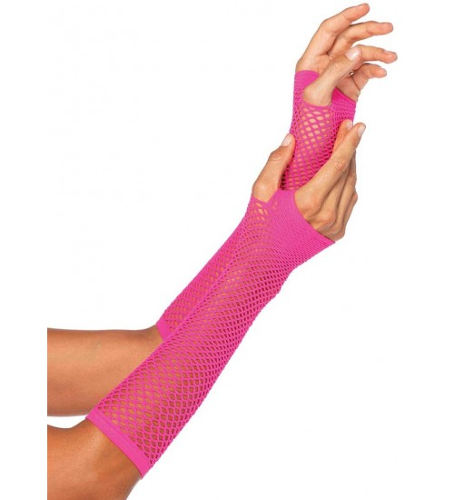 Neon Pink Triangle Net Fingerless Gloves at Corsets Plus, Corsets - Steel Boned Corsets, Waist Training, Body Shapers