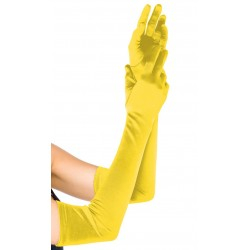 Yellow Satin Extra Long Opera Gloves Corsets Plus Corsets - Steel Boned Corsets, Waist Training, Body Shapers