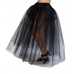 Black Full Length Tulle Skirt Corsets Plus Corsets - Steel Boned Corsets, Waist Training, Body Shapers