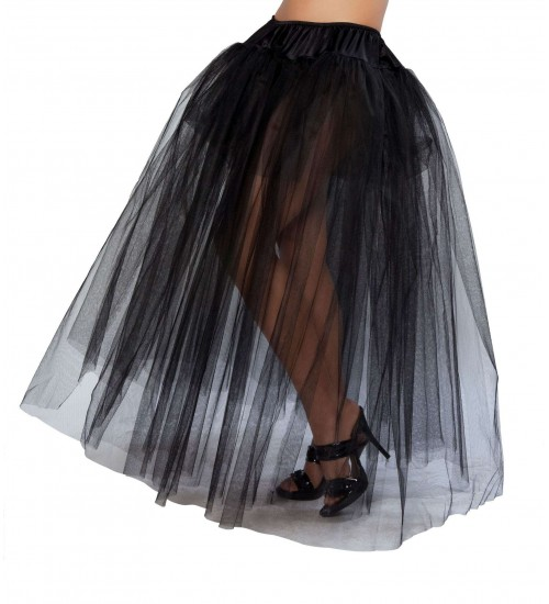 Black Full Length Tulle Skirt at Corsets Plus, Corsets - Steel Boned Corsets, Waist Training, Body Shapers